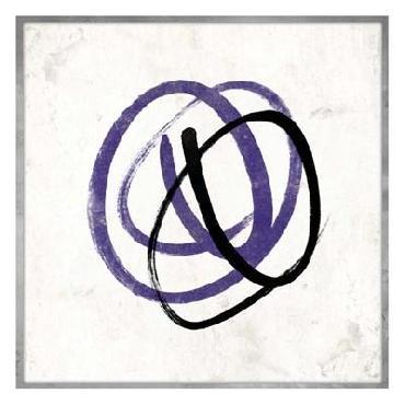 Jace Grey Abstract Circle Mate Purple