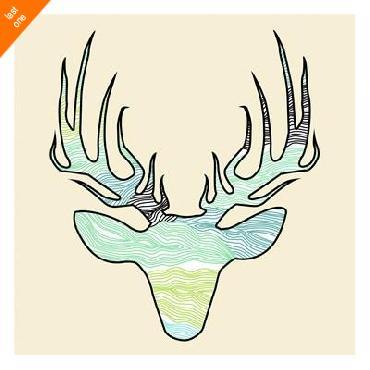 Jace Grey Deer Teal Green   LAST ONES IN INVENTORY!!