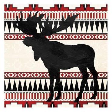 Jace Grey Aztec Moose Red