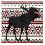 Jace Grey Aztec Moose Red Mate