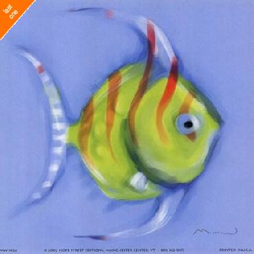 Anthony Morrow Striped Angel Fish   LAST ONES IN INVENTORY!!