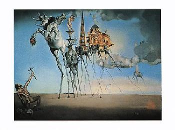 Salvador Dali Temptation Of St. Anthony, C.1946 Canvas