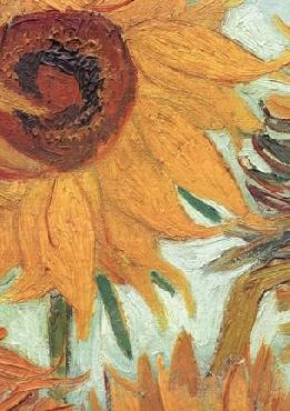 Vincent Van Gogh Sunflowers detail