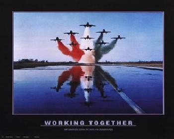 Motivational Working Together - Patriotic