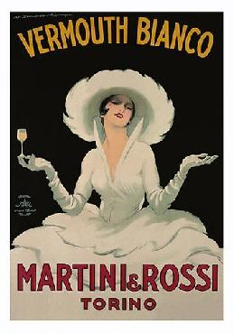 Marcello Dudovich Martini Rossi Vermouth Bianco Canvas