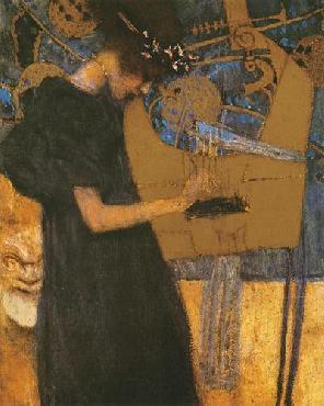 Gustav Klimt Die Musik Canvas