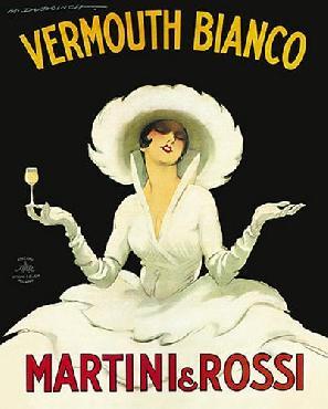 Marcello Dudovich Martini Rossi Canvas