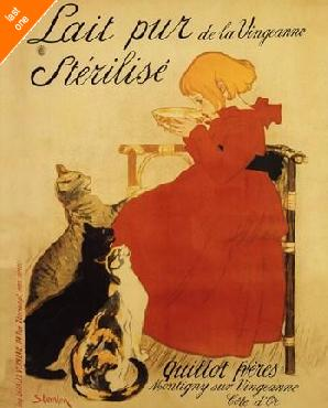 Theophile Alexandre Steinlen Lait Pur   LAST ONES IN INVENTORY!!