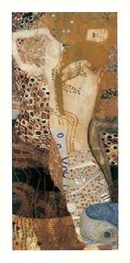 Gustav Klimt Sea Serpents II with Foil and Metallic Ink on Special Paper