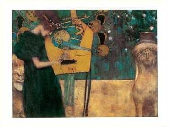 Gustav Klimt Die Musik with Foil and Metallic Ink on Special Paper