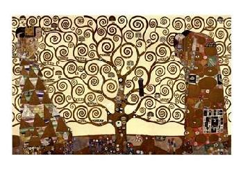 Gustav Klimt Tree of Life - Stoclet Frieze with Foil and Metallic Ink on Special Paper