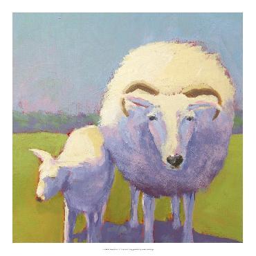 Carol Young Sheep Pals II Open Edition Giclee - Gloss