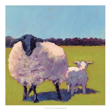 Carol Young Sheep Pals III Open Edition Giclee - Gloss