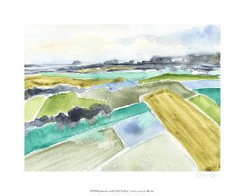Jennifer Goldberger Watercolor Field I Giclee Canvas