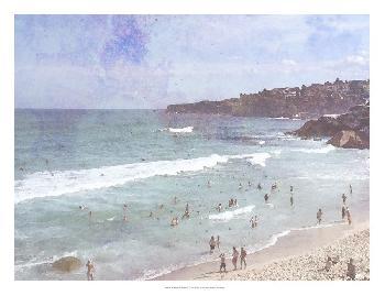 Jennifer Goldberger Day At The Beach III Open Edition Giclee - Gloss