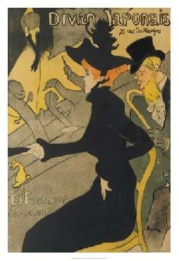 Henri De Toulouse-Lautrec Divan Japonais Giclee Canvas