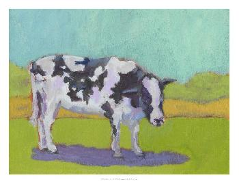 Carol Young Pasture Cow I Open Edition Giclee - Gloss