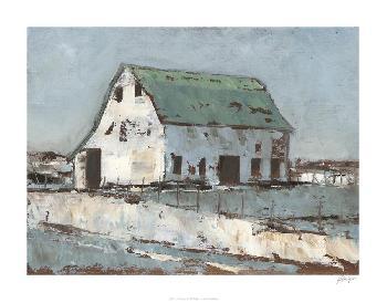 Ethan Harper Plein Air Barn II Giclee Canvas