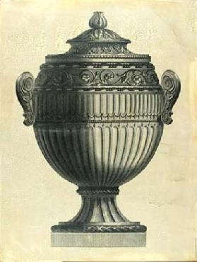Vision Studio Oversize Empire Urn I Hand Colored