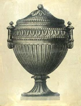 Vision Studio Oversize Empire Urn II Hand Colored