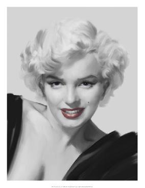 Chris Consani The Look Red Lips Giclee Canvas