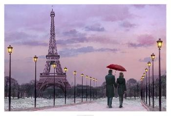 Chris Consani Red Umbrella Giclee Canvas
