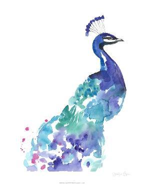 Jennifer Goldberger Peacock Splash I Limited Edition Giclee