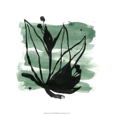 June Erica Vess Tropical Sumi - E VII Limited Edition Giclee