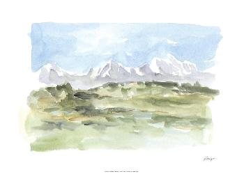 Ethan Harper Mountain Watercolor I Limited Edition Giclee