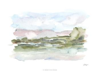 Ethan Harper Mountain Watercolor VI Giclee Canvas