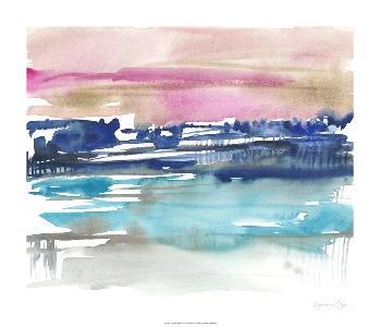 Jennifer Goldberger Indigo Sunset I Limited Edition Giclee