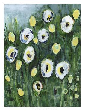 Tara Daavettila Modern White Floral I Open Edition Giclee - Gloss