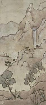 Chariklia Zarris Chinoiserie Landscape I Giclee on Canvas