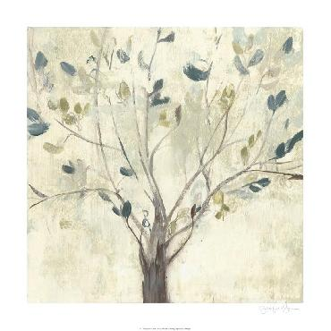 Jennifer Goldberger Trees Of Blue I Limited Edition Giclee