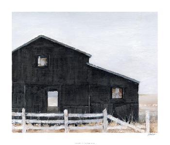 Ethan Harper Black Barn I Limited Edition Giclee
