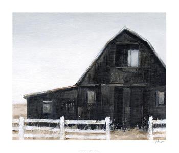 Ethan Harper Black Barn II Limited Edition Giclee