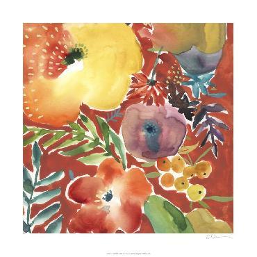 Chariklia Zarris Abundant Florals III Giclee Canvas