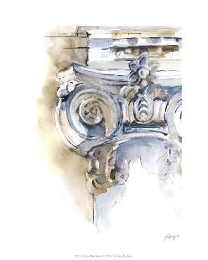 Ethan Harper Architectural Watercolor Sketch II Limited Edition Giclee