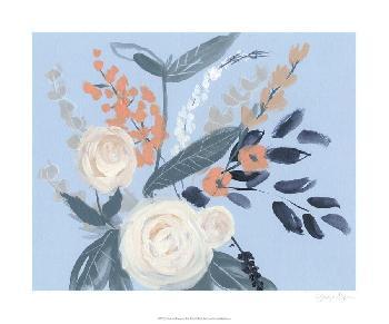 Jennifer Goldberger Eucalyptus Bouquet On Blue II Limited Edition Giclee