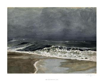 Victoria Barnes Moody Sea I Giclee Canvas
