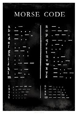 Vision Studio Morse Code Chart Giclee Canvas