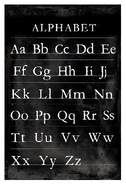 Vision Studio Alphabet Chart Open Edition Giclee - Matte