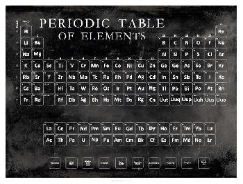 Vision Studio Periodic Table Open Edition Giclee - Matte