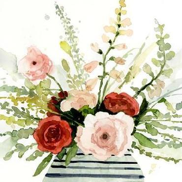 Victoria Barnes Splashy Bouquet I Limited Edition Giclee
