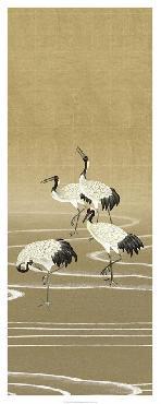 Paul Montgomery Cranes On Gold II Giclee Canvas