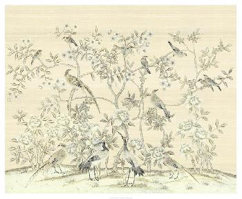 Paul Montgomery Bird Party In Straw Giclee Canvas