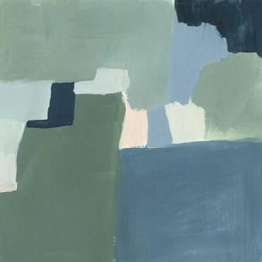 Victoria Barnes Teal And Sage I Limited Edition Giclee