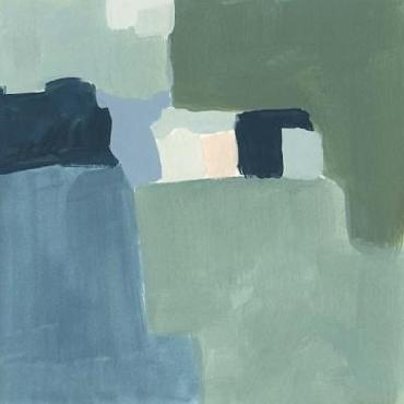 Victoria Barnes Teal And Sage II Limited Edition Giclee