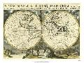 Edward Wells New Map Terra. Globe, Ox., 1700 - 01
