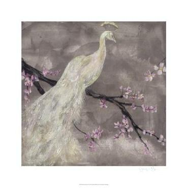 Jennifer Goldberger Peacock Serenity I Giclee Canvas